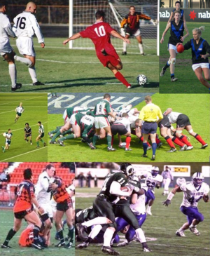 Some of the many different games known as foot...