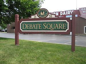 Debate Square, site of second debate between A...