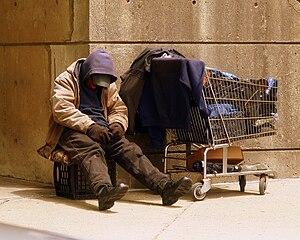 Homeless Veteran on the streets of Boston, MA