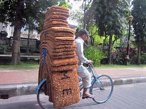 Doormat made of coconuts fibre.