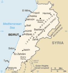 Peta Lebanon