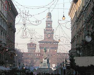 Milano castello sforzesco natale