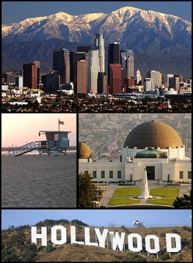 Montage of Los Angeles pictures on Commons