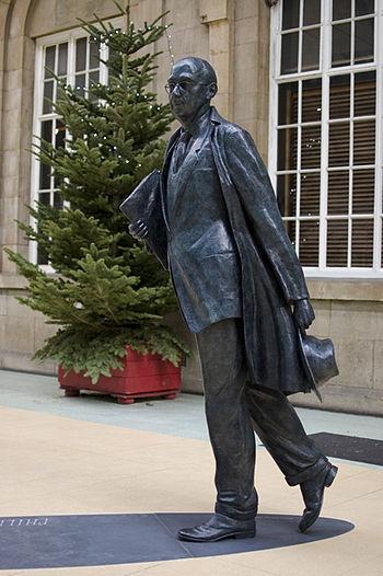 Bronze Statue of Phillip Larkin, by sculptor M...