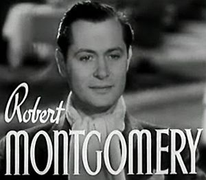 Cropped screenshot of Robert Montgomery from t...