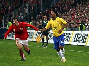 Xavier Margairaz and Ronaldinho, St. Jakob Sta...