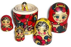 English: Matryoshka dolls