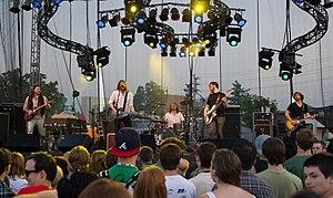 Canadian rock band The Reason performing at th...