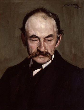"""Thomas Hardy,"" oil on panel, by the..."