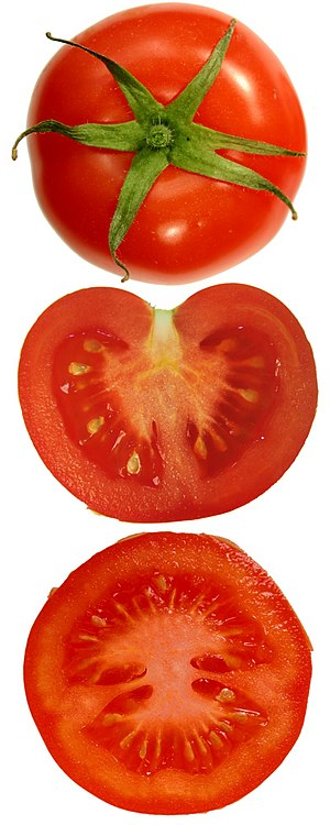 Tomato plain and sliced (vertical, horizontal)