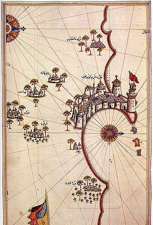 Tripoli in Libya on the Kitab-ı Bahriye (Book...