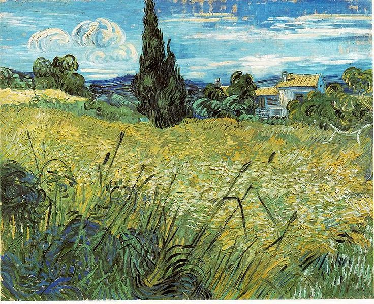 File:Vincent van Gogh - Green Wheat Field with Cypress.jpg