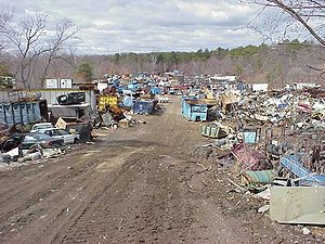 A scrapyard.