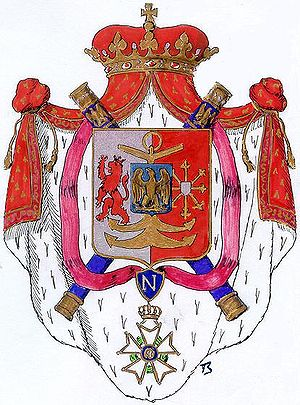 English: Arms of the Grandduchie of Berg Drawn...