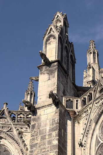Gargoyles of Saint-André Cathedral in Bordeaux...