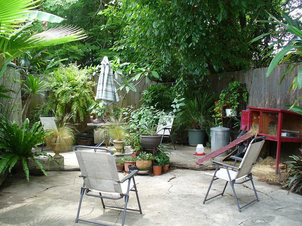 diy concrete backyard