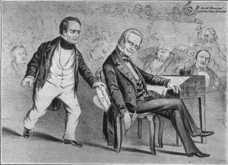 Caricatura de Daniel Webster robando a Henry Clay