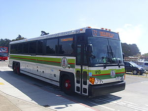A new Golden Gate Transit MCI D4500CT commuter...