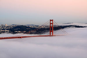 Golden Gate Bridge (San Francisco, CA, USA) at...