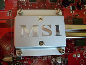 Logo of Micro-Star International on a Radeon H...