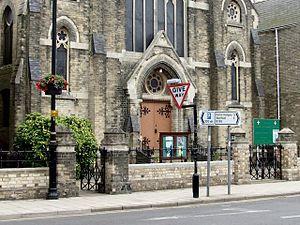 English: Methodist Church, Spilsby The town ha...