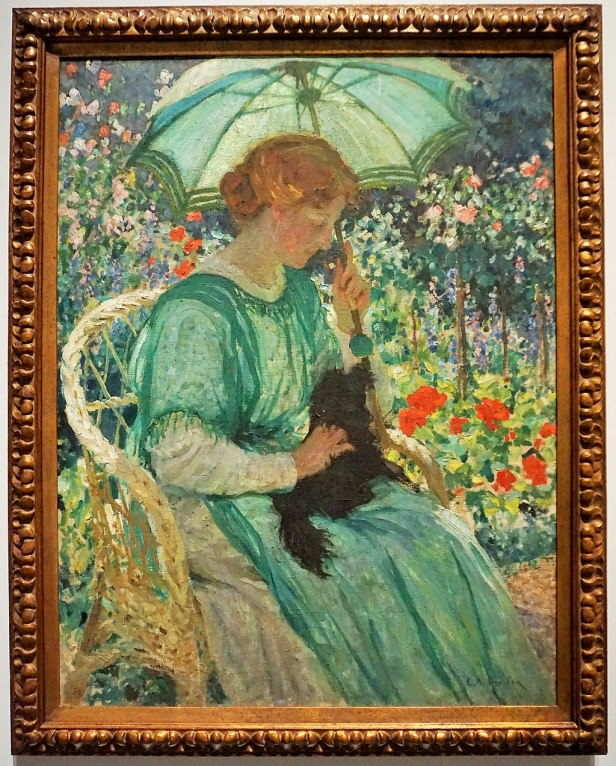 """""""The Green Parasol"""" by E. Phillips Fox"""