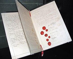 Original document of the first Geneva Conventi...