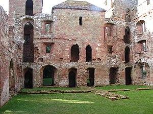English: Acton Burnell Castle - Ruined Interio...