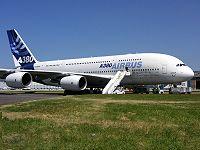 El avión comercial más grande del mundo del Consorcio Airbus.