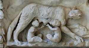 Representation of the lupercal: Romulus and Re...