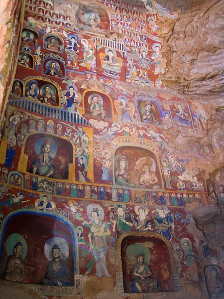 File:Buddhist paintings Yungang.jpg
