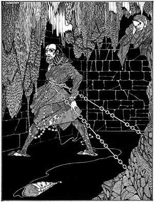 "Illustration for Edgar Allan Poe's story ""..."