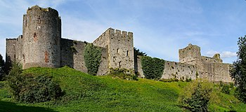 A stitch of the western end of Chepstow castle...