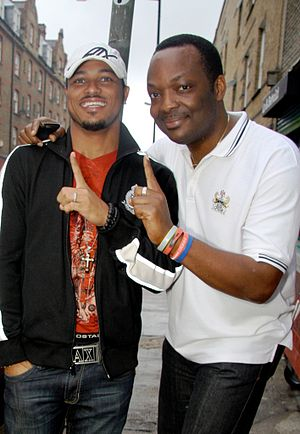 DJ Abass with actor Van Vicker
