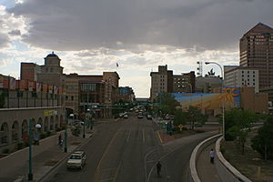 Route 66 through Downtown Albuquerque, New Mexico