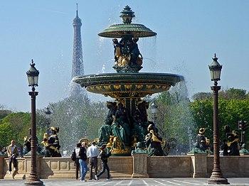 English: Fontaine de la place de la Concorde, ...