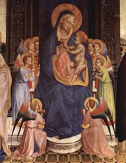 Virgin and Child with Saints, detail, Fiesole  (1428–1430)
