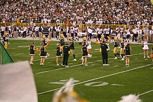 The Green Bay Packers cheerleaders seen cheeri...