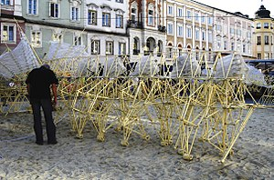 One of Theo Jansen's Strandbeest constructions.