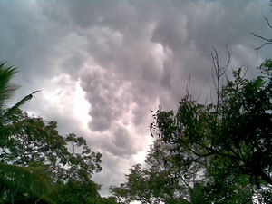 English: Rain Clouds in Kerala, India.