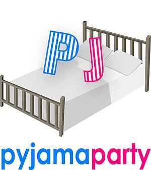 English: Pyjama Party Logo