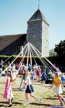Maypole Dancing at Bishopstone Church, Sussex - geograph.org.uk - 727031.jpg