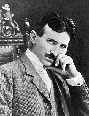 The photograph image of Nikola Tesla (1856-194...