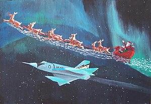 English: NORAD Santa Claus Fighter Escort