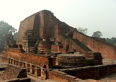The stupa of Sariputta at Nalanda.