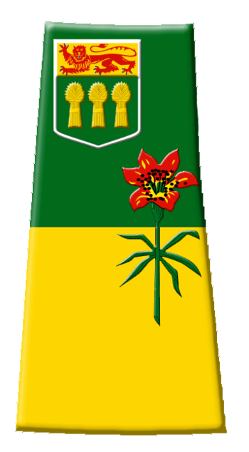 Contour flag of Saskatchewan, Canada