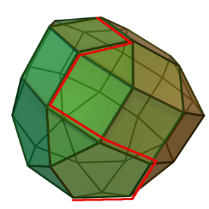 Shows a linear programming polytope together w...