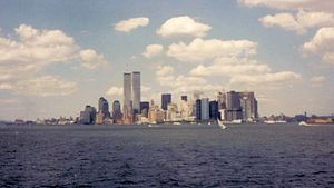 English: The World trade Center dominates sout...