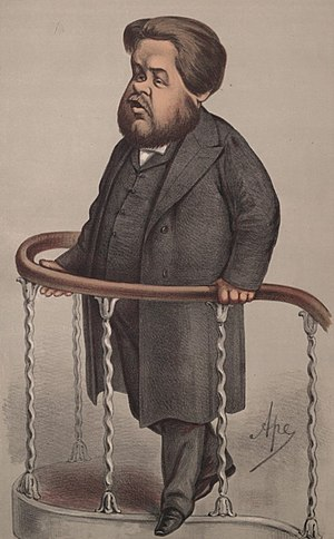 Caricature of Charles Spurgeon. Caption reads ...