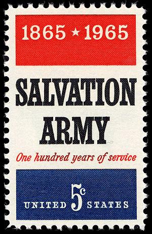 English: stamp USA 1965 – 100 years Salvation Army